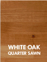 White Oak, quarter sawn